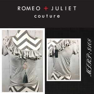 New Romeo & Juliet Striped Cold Shoulder Top Small